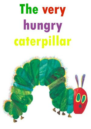the very hungry caterpillar 5 años