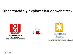 Observacion y exploracion de Web sites
