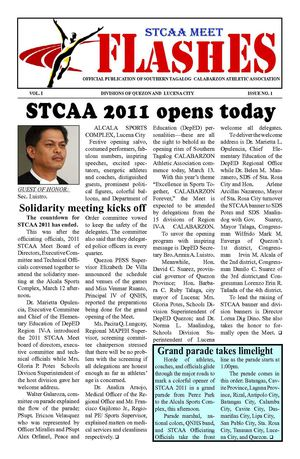 STCAA FLASHES 1st  Issue