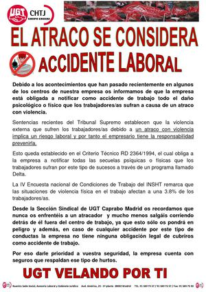 EL ATRACO SE CONSIDERA ACCIDENTE LABORAL