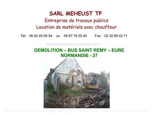 demolition - eure - normandie - 27 - meheust tp