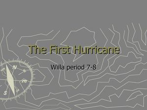 The First Hurricane Willa period7