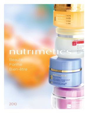 CATALOGUE NUTRIMETICS 2010-2011