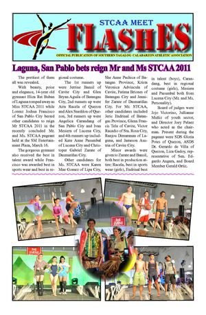 STCAA FLASHES 5th  Issue
