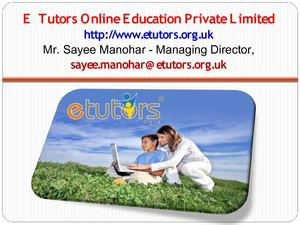 Etutors Services