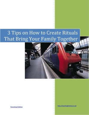 3 Tips on How to Create Rituals that Bring Your Family Together