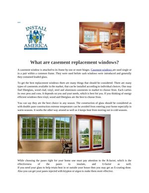 What are casement replacement windows?