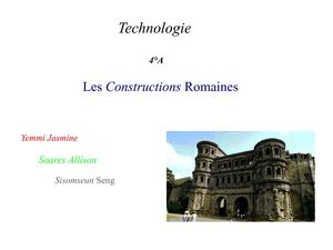 Constuction romaine