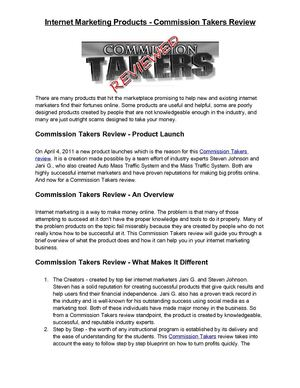 Commission Takers Review - A Quick Pre-Launch Look