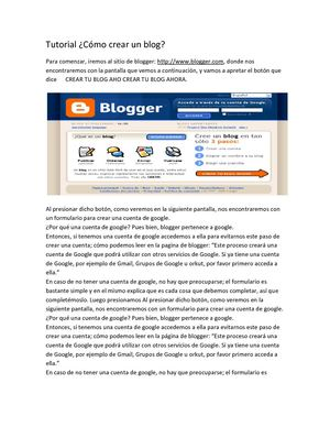 Tutorial  de blogger y issuu