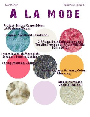 A La Mode Newsletter - March/April