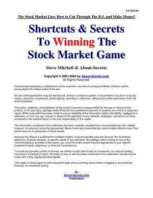 Steve Mitchell - Shortcuts & Secrets To Winning The Stockmarket Game
