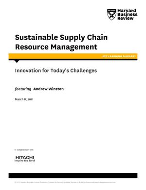 Sustainable Supply Chain Resource Management: Hitachi