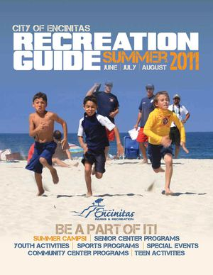 City of Encinitas Summer 2011 Recreation Guide Brochure