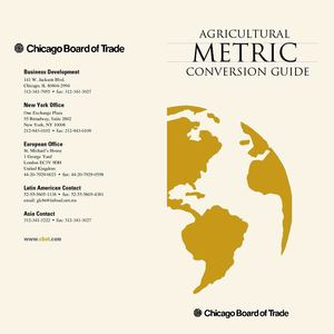 Agricultural Metric Conversion Guide