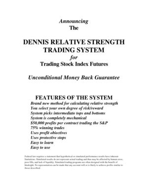 Dennis Relative Strength Index Futures Trading System