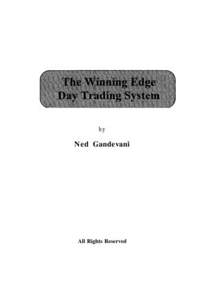 Ned Gandevani's SP500 Winning Edge Day Trading System