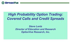 OV_Covered_High Probability Option Trading: Covered Calls and Credit Spreads