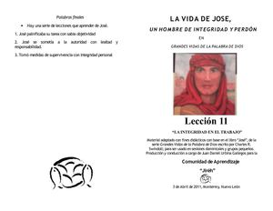 LA VIDA DE JOSE Leccion 11