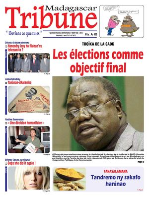 Journal Madagascar Tribune du Vendredi 1er Avril 2011