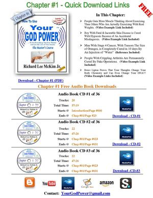 How To Use Your God Power - The Master's Course - FREE Chapter #1 E-Book & 3 Audio Book CDs