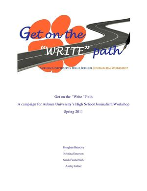 "Get on the ""Write"" Path Campaign"