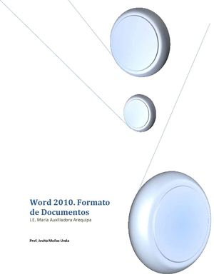 Word 2010. Formato de Documento