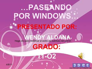 PASEANDO POR WINDOWS