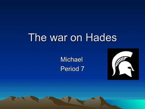 The War on Hadies Michael