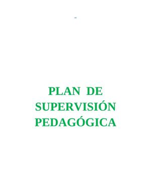 PLAN DE SUPERVISION - CEBE