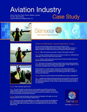 Sensear Aviation Case Study