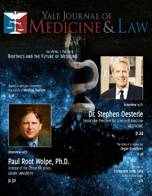 Yale Journal of Medicine and Law, Vol.7, issue 1