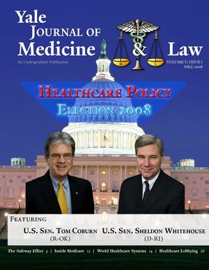 Yale Journal of Medicine and Law, Vol. 5, issue 1