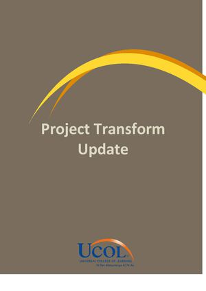 Project Transform Staff Update1 FINAL for UPLOAD