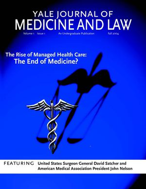 Yale Journal of Medicine and Law, Vol. 1, issue 1