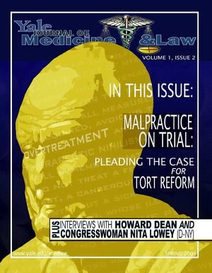 Yale Journal of Medicine and Law, Vol. 1, issue 2