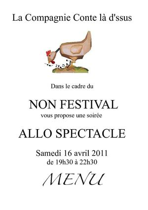 Menu Allo spectacle