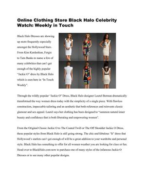 Online Clothing Store Black Halo Celebrity Watch: Giuliana Rancic