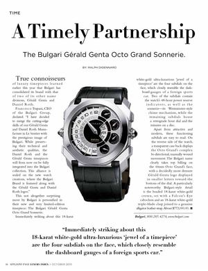 The Affluent Page Presents: A Timely Partnership