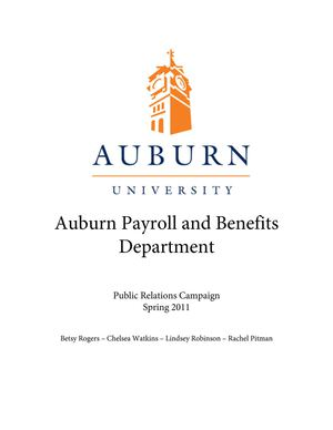 Auburn Payroll and Benefits Campaign