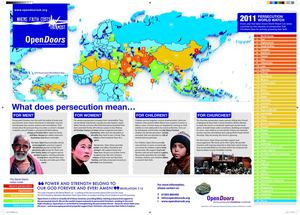 World Watch Map 2011, Open Doors