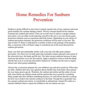 sunburn prevention