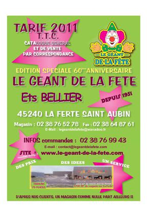 catalogue Le geant de la fete