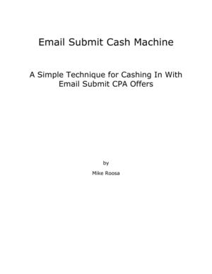 Email Submit Cash Machine