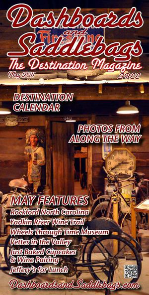 "Dashboards and Saddlebags ""The Destination Magazine"" May 2011"