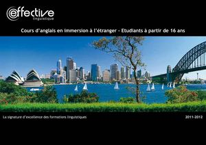 Brochure Effective Etudiants / Adultes 2011