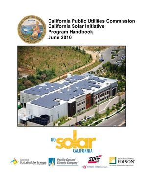 California Solar Initiative Program Handbook