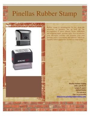 Some Good Information for Rubber Stamp Use