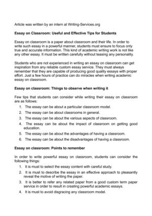 Macbeth Essay Thesis Essay On Classroom Useful And Effective Tips For Students Research Paper Essay Topics also Science Essay Ideas Calamo  Essay On Classroom Useful And Effective Tips For Students Research Paper Samples Essay
