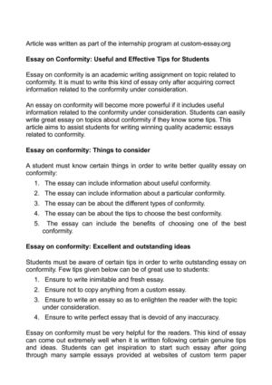 Reflective Essay On English Class Essay On Conformity Useful And Effective Tips For Students Narrative Essay Papers also Example Essay Thesis Statement Calamo  Essay On Conformity Useful And Effective Tips For Students Thesis Statement Argumentative Essay